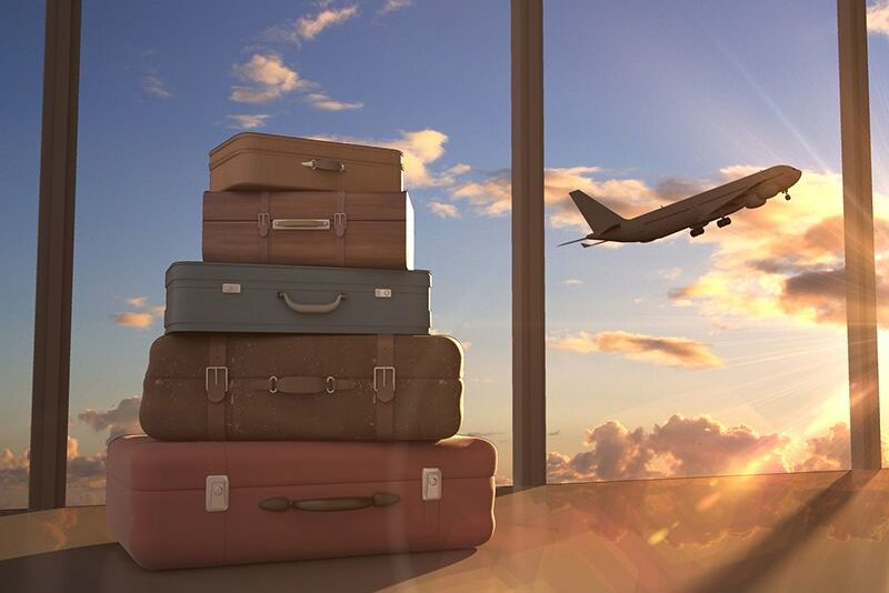 airplane and luggage, take care of yourself as you travel for the holidays