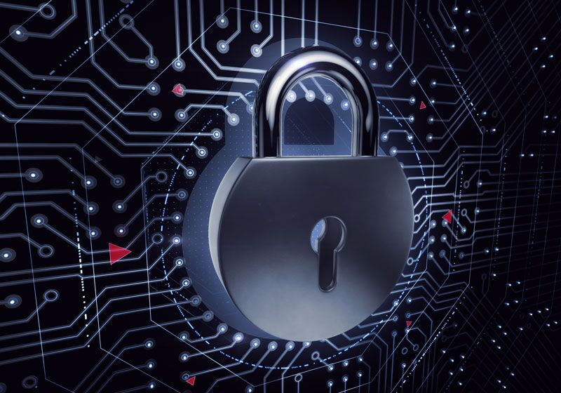 digital lock; cyber security tips for new businesses